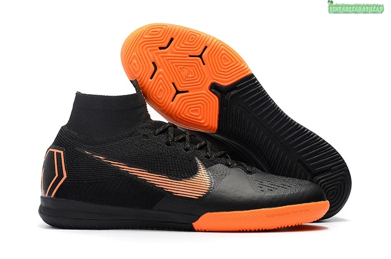 Venta Nike SuperflyX 6 Elite IC Negro Naranja