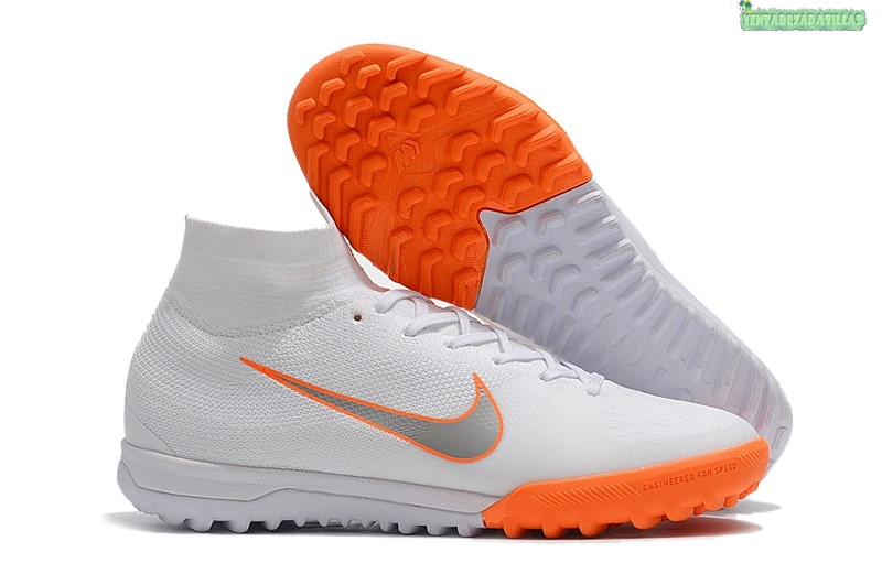 Venta Nike SuperflyX 6 Elite TF Blanco Naranja