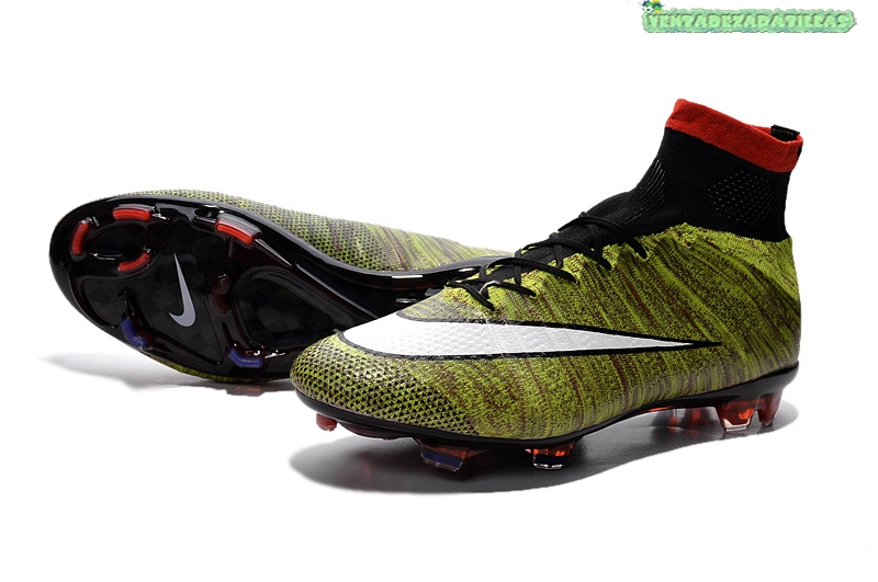 on sale 8836c e79cd ... Venta Nike Mercurial Superfly FG Negro Verde Fluorescente Blanco ...