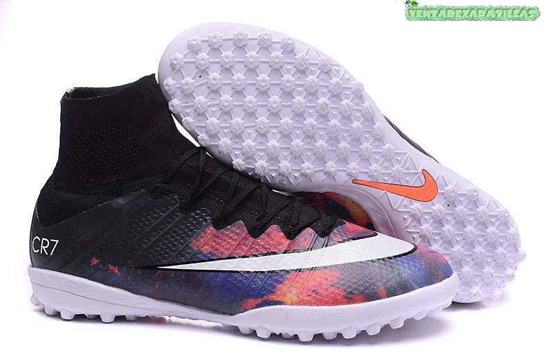detailed pictures a85f7 6827c Venta Nike Mercurial Superfly CR7 TF Negro Carmesí Blanco