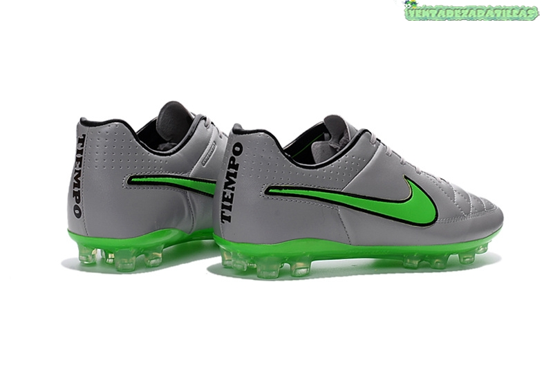 official photos 7d385 5648f ... Venta Nike Tiempo Legend V AG Negro Plata Verde ...